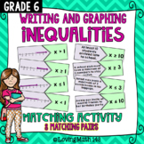 Writing & Graphing Inequalities Matching Activity