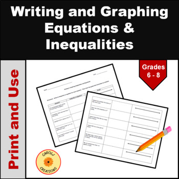 Inequalities Worksheets | School Stuff | Pinterest | Worksheets ...