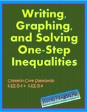 Writing, Graphing & Solving One-Step Inequalities