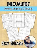 Writing, Graphing and Solving Inequalities (One-Step)