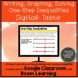 Writing, Graphing, and Solving Inequality Digital Tasks wi