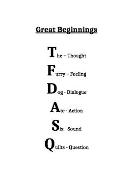 Writing Great Beginnings