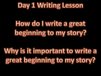 Writing Great Beginnings and Endings Lesson and Resources