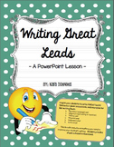 Writing Great Leads Powerpoint