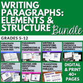 Writing Paragraphs - NO PREP Paragraph Building Activities - Structure, Style