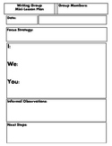 Writing Group Lesson Plan Template