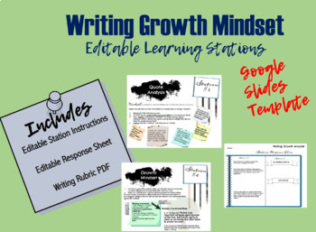 Writing Growth Mindset Learning Stations