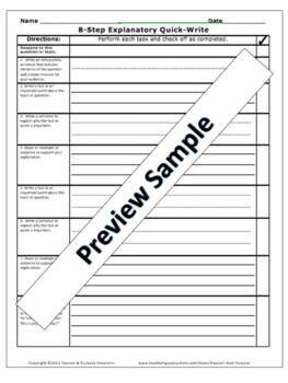 Informative Writing in 8 Easy Steps with Template, Tasks, & Posters