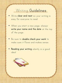 Writing Guidelines for Handing in Work with Examples