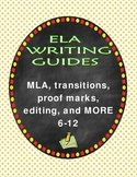 12 Writing Guides Bundle 6-12 Punctuation, Lit Terms, Editing, Plagiarism & More