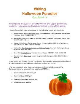 Writing Halloween Parodies (Part 1 of 5)