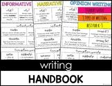 Writing Handbook: Informative, Narrative and Opinion