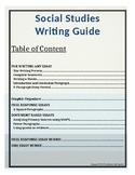 Writing Handbook for Social Studies