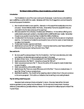 Writing Handout