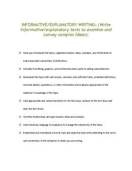 Writing Helper Checklist