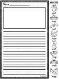Phonics Worksheets Picture Helpers Primary Writing Paper with Picture Box