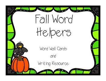 Writing Helpers - Fall Words