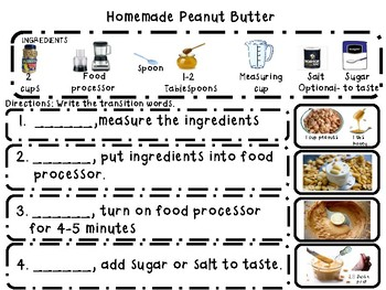 Writing Homemade Peanut Butter with pictures