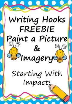 Writing Hook Imagery FREEBIE (Starting With Impact) American English