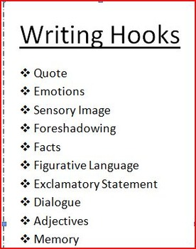 Writing Hooks