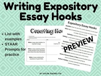 expository essays hooks How to write an expository essay expository essays are often assigned in academic settings in an expository essay you need to consider an idea.