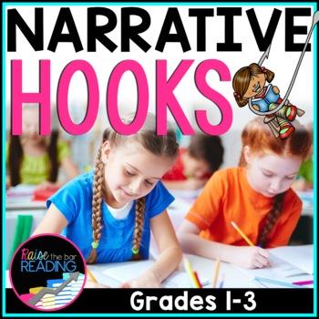 Writing Hooks *Freebie*: Narrative Writing Hooks Poster & Hooks Writing Practice