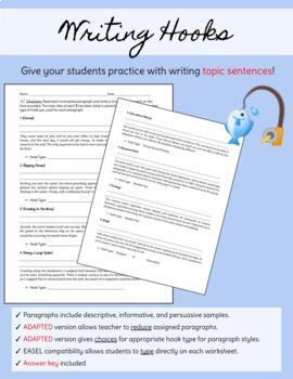 Writing Hooks Homework By Mighty Writers