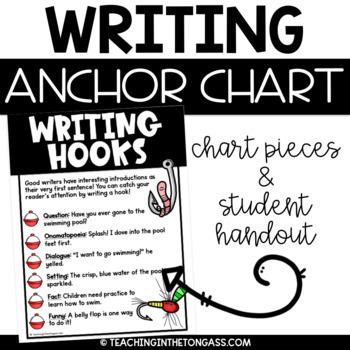 Writing Hooks Anchor Chart Free