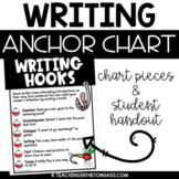 Writing Hooks Anchor Chart Free Writing Poster