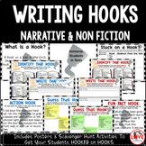 Writing Hooks Posters & Scavenger Hunts