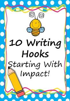 Writing Hooks (Starting with Impact) Prompt/ Stimulus Pack Australian British