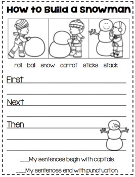 "Writing ""How To"" Stories with Winter Topics!"