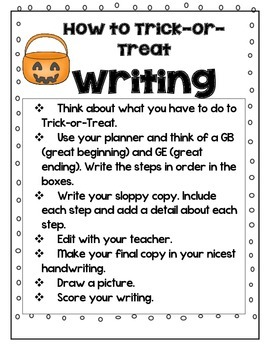Writing - How-to Trick-or-Treat