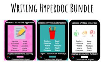 Writing Hyperdoc Bundle: Narrative, Informative, & Opinion