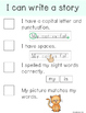 """Writing """"I Can"""" Checklists"""