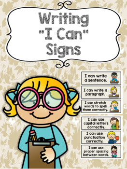 """Writing """"I Can"""" Signs"""