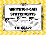 Writing I-Can Statements 4th Grade