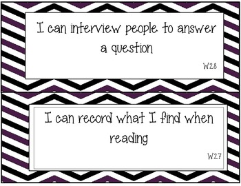 Writing I Can Statments 2nd Grade