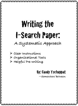 Writing I-Search Paper - learning to research