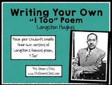 """Writing """"I, Too,"""" Inspired Poetry, Langston Hughes"""