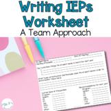 Writing IEP Goals: A Team Approach