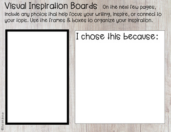 Writing Idea Boards - Writing Process Guide for Any Prompt - Google & OneDrive