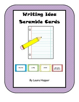 Writing Idea Scramble Cards