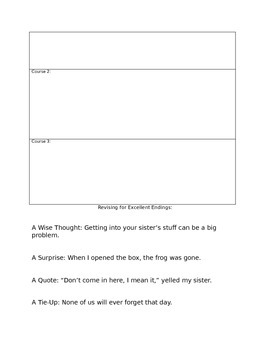 Writing-Idea and Organization Mini Lesson Bundle