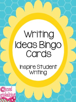 Writing Ideas Bingo An Idea Trait Activity