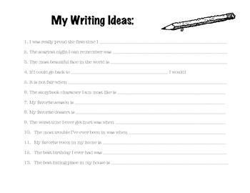 Writing Ideas Generator