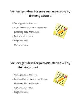 Writing Ideas - Narrative