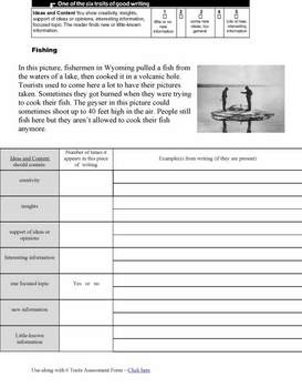 Writing: Ideas and Content Writing Samples & Worksheets