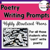 Poetry Writing Prompts - Highly Structured Poems