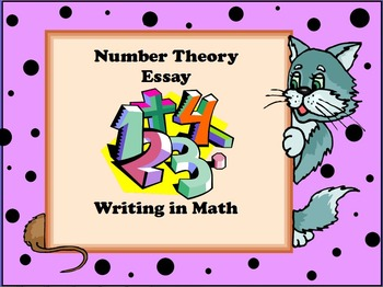 Writing In Math - Number Theory Essay